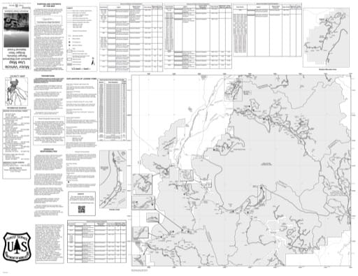 Motor Vehicle Use Map (MVUM) of Jackson Ranger District in Bridger-Teton National Forest (NF) in Wyoming. Published by the U.S. Forest Service (USFS).