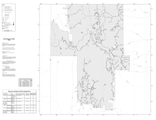 Motor Vehicle Use Map (MVUM) of Kemmerer Ranger District in Bridger-Teton National Forest (NF) in Wyoming. Published by the U.S. Forest Service (USFS).