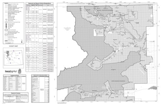 Motor Vehicle Use Map (MVUM) of the North Zone (side 2) of Shoshone National Forest (NF) in Wyoming. Published by the U.S. Forest Service (USFS).