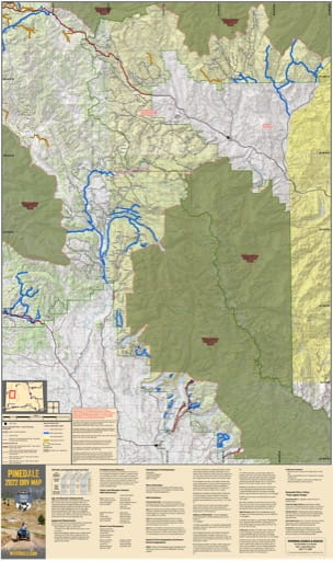Map of Pinedale Off-Road Vehicle Trails (ORV) published by Wyoming State Parks, Historic Sites, & Trails (WYSP).