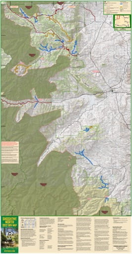 Map of Shoshone North Off-Road Vehicle Trails (ORV) in Wyoming. Published by Wyoming State Parks, Historic Sites, & Trails (WYSP).