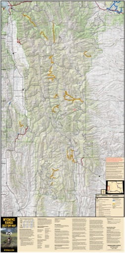 Map of Wyoming Range Off-Road Vehicle Trails (ORV) in Wyoming. Published by Wyoming State Parks, Historic Sites, & Trails (WYSP).