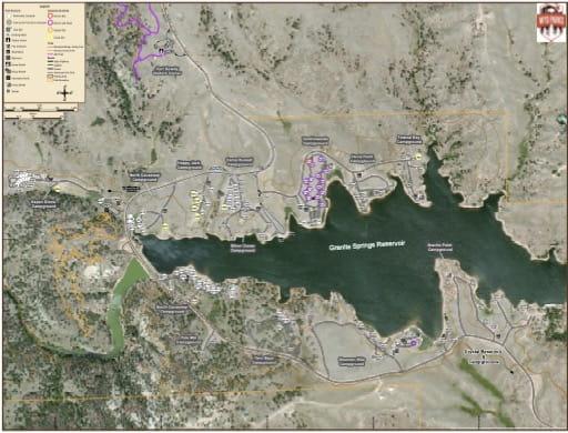 map of Curt Gowdy - Granite Reservoir