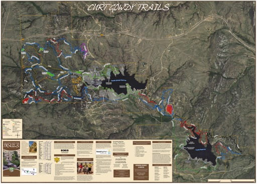 map of Curt Gowdy - Trails